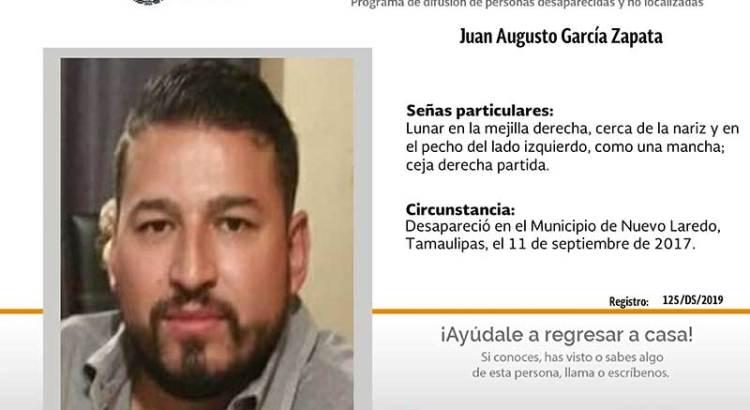 ¿Has visto a Juan Augusto García Zapata?