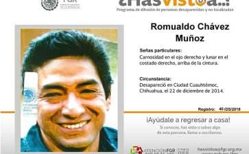 ¿Has visto a Romualdo Chávez Muñoz?