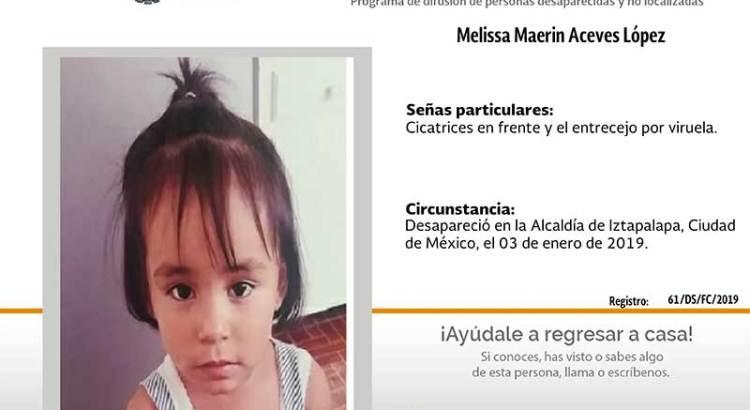 ¿Has visto a Melissa Maerin Aceves López?