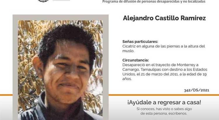 ¿Has visto a Alejandro Castillo Ramírez?