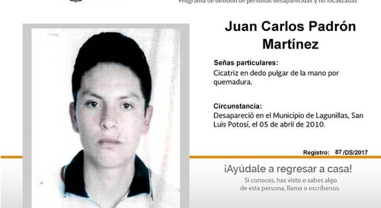¿Has visto a Juan Carlos Padrón Martínez?