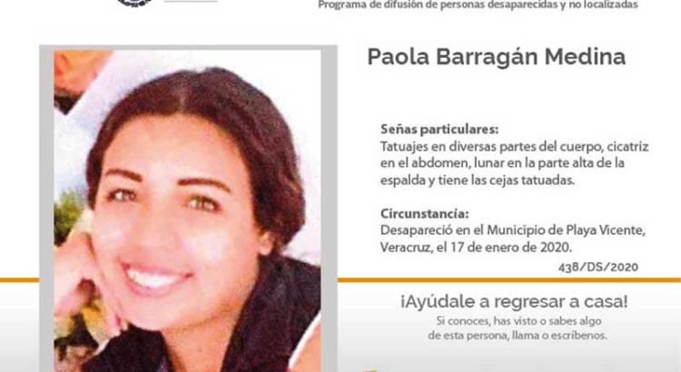 ¿Has visto a Paola Barragán Medina?