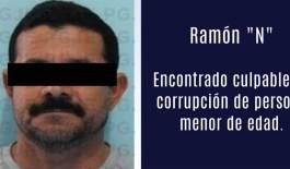 Dan 5 años de cárcel a corruptor de menores