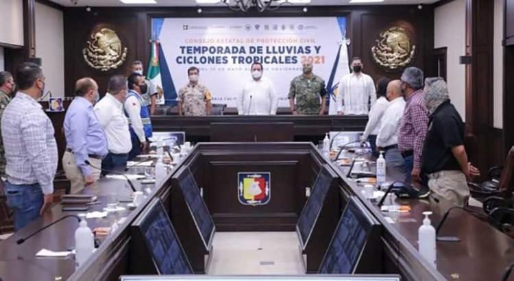 Preside Gobernador instalación del Consejo Estatal de Protección Civil
