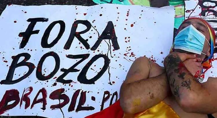 Se manifestaron brasileños contra Bolsonaro