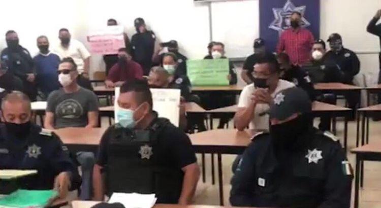 Se manifestaron policías de La Paz