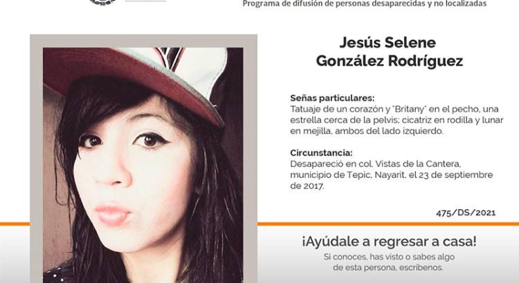 ¿Has visto a Jesús Selene González Rodríguez?