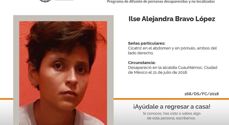 ¿Has visto a Ilse Alejandra Bravo López?