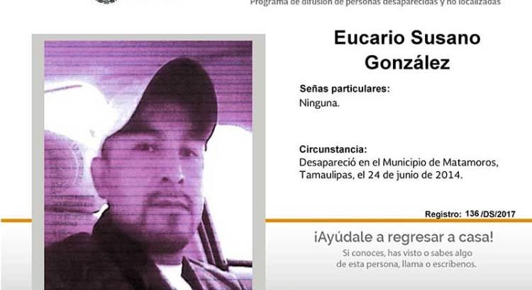 ¿Has visto a Eucario Susano González?