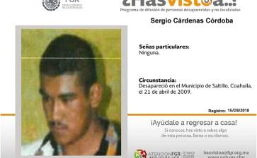 ¿Has visto a Sergio Cárdenas Córdoba?