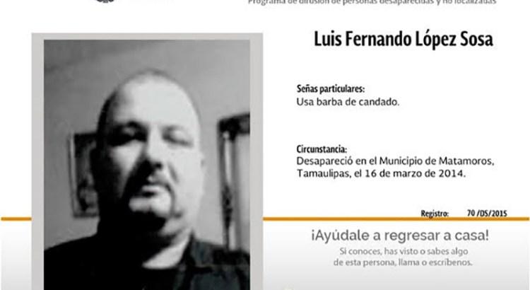 ¿Has visto a Luis Fernando López Sosa?