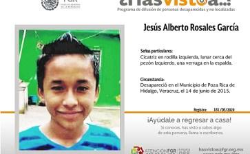 ¿Has visto a Jesús Alberto Rosales García?