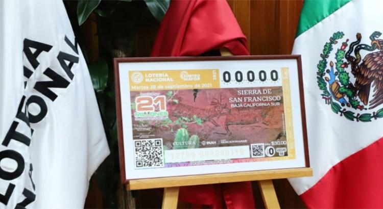 """A los """"cachitos"""" de lotería las pinturas rupestres de BCS"""