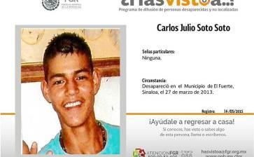 ¿Has visto a Carlos Julio Soto Soto?