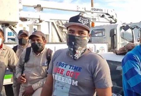 Se manifestaron trabajadores de Servicios Públicos de La Paz