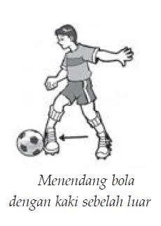 Menendang Bola : menendang, Sepak, Teknik, Dasar, Menendang, Dalam, Permainan, Penjaskes.Co.Id