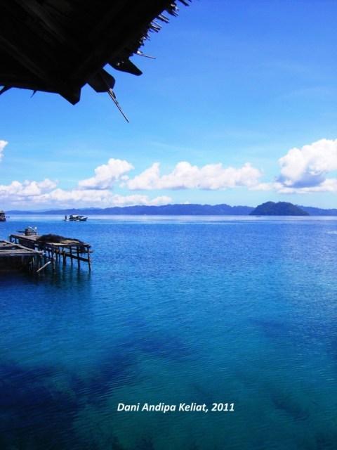 Keindahan laut di Desa Tongkabo, Kepulauan Togean, Sulawesi Tengah