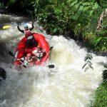 Rafting Sungai Palayangan, di area Situ Cileunca, Pangalengan.