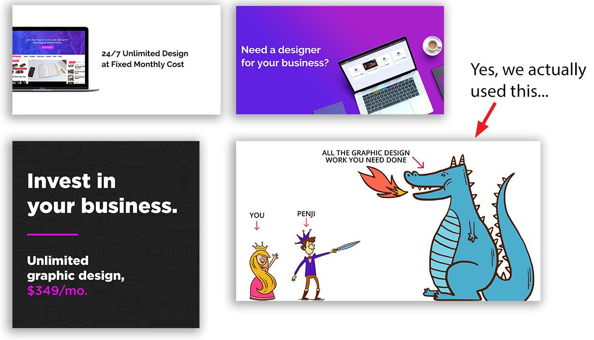 Diversity in ad design
