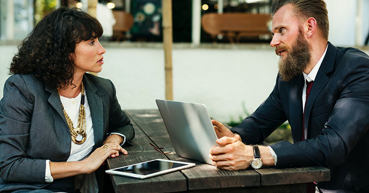 business owner negotiating pay