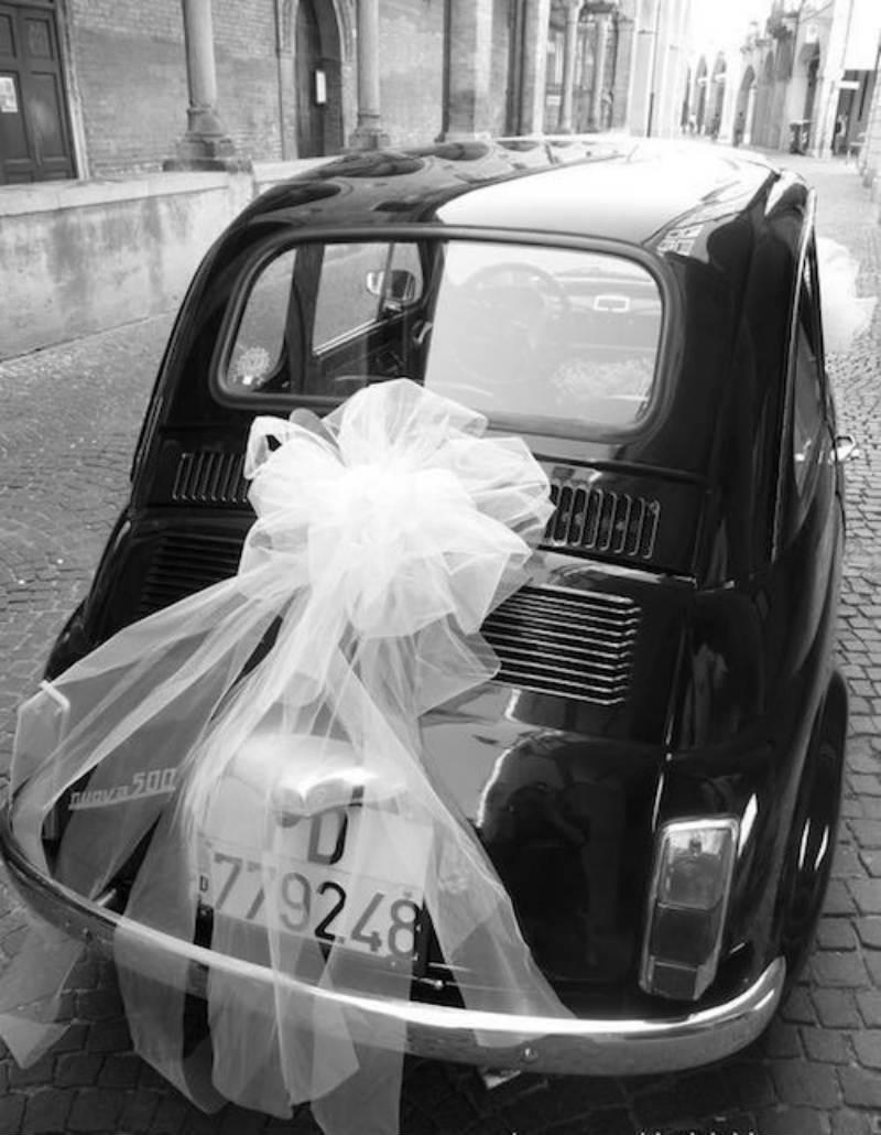 pita bumper belakang mobil pernikahan