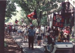 The Penn Band leads the Penn Alumni Parade of Classes on Alumni Day at Penn, May 15, 1993