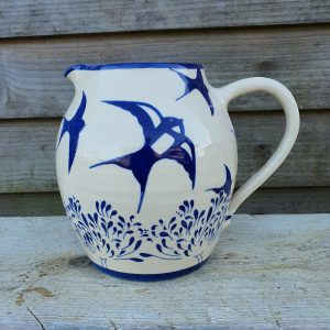 Agapanthus And Swallow Jug - Large