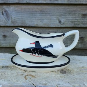 Cornish Chough Gravy Boat and Stand