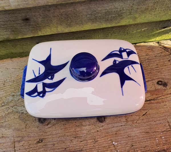 Swallow butter dish