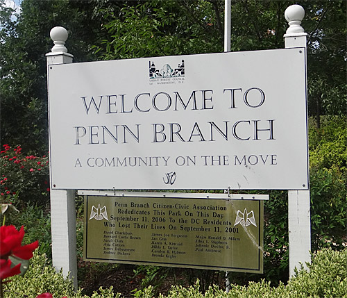 Welcome to Penn Branch sign