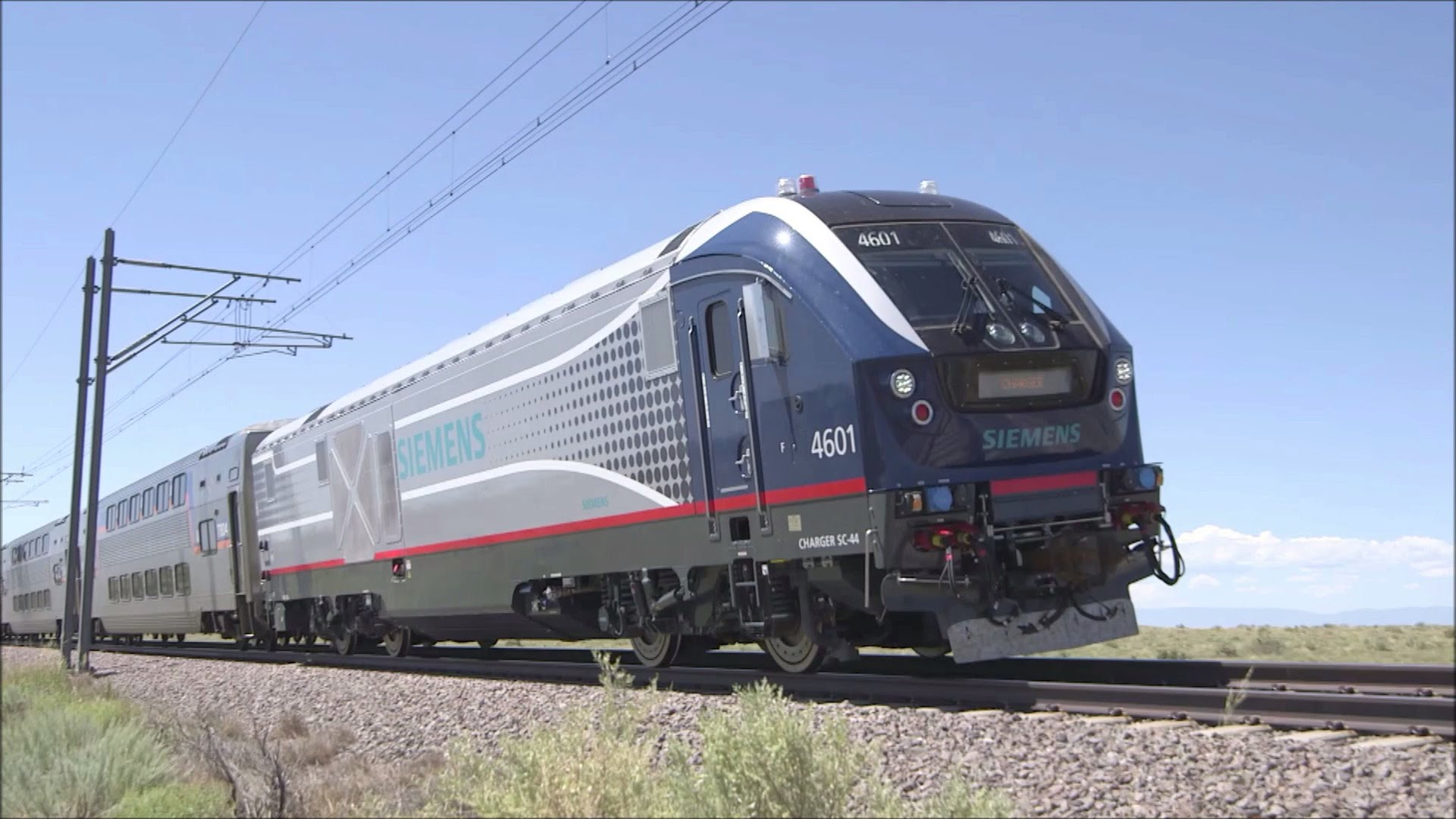 "Siemens Charger Goes ""Live"" On AMTRAK"