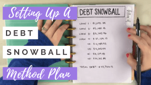 how to set up a debt snowball method plan