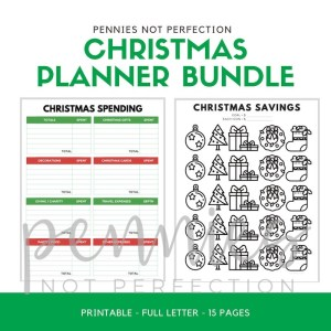 Christmas Planner Printable | Debt Free Stress Free Christmas Printable - Pennies Not Perfection