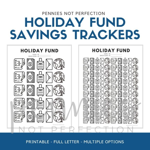 Holiday Fund Savings Goal Tracker Printable - Pennies Not Perfection