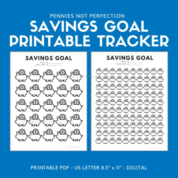 Savings Goal Tracker | Piggy Bank Savings Tracker Printable 6