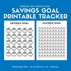 Savings Goal Tracker | Piggy Bank Savings Tracker Printable 6