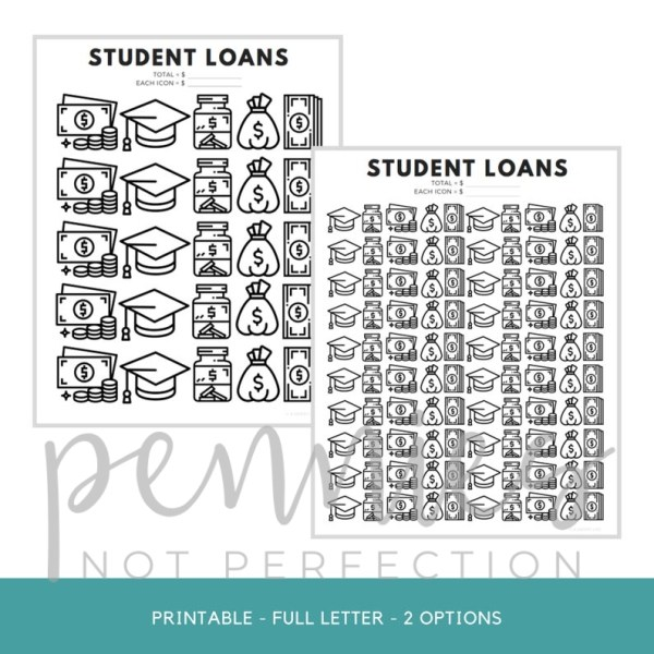 Student Loans Payoff Tracker | College Debt Payoff Printable - Pennies Not Perfection 2