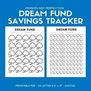 Dream Fund Savings Tracker Printable 1