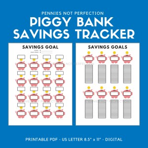Savings Goals Tracker | Savings Tracker Printable 1