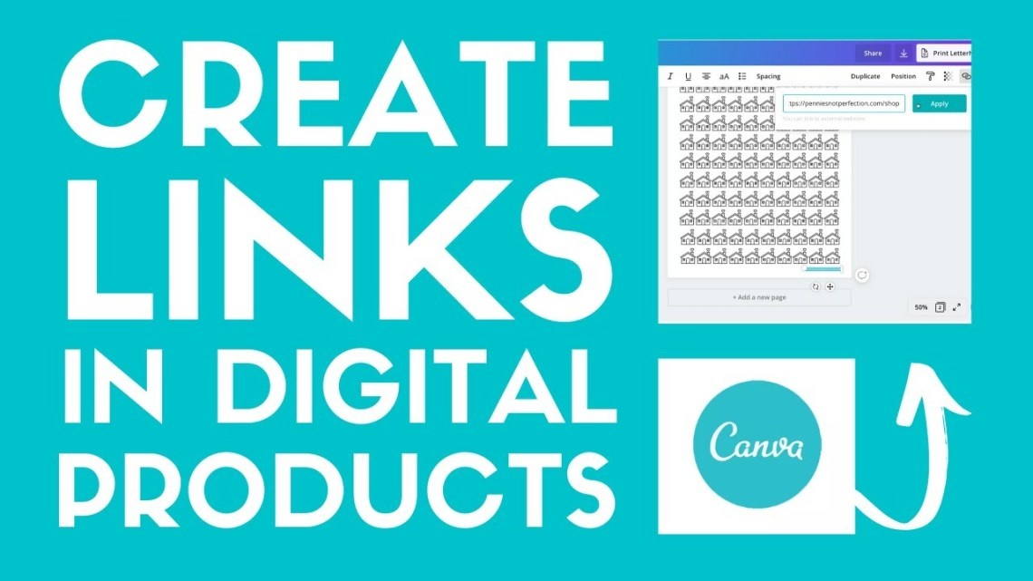 how to create links in pdfs in canva
