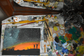 Sunset Landscape in Oils – Time Lapse Painting Tutorial