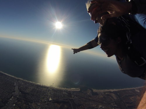 Diving into nature's lap from 13,000ft above Pacific Ocean