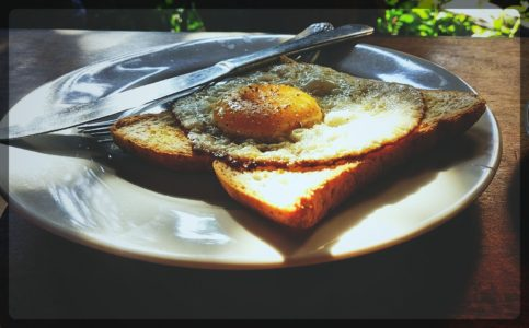 Fried Egg - sunny side up in Ubud, Bali