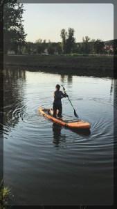 Paddleboarding at City Park Prague