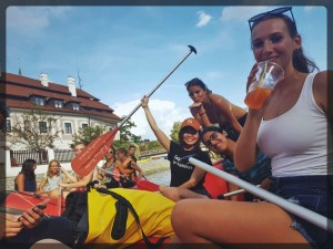 River Rafting in Cesky Krumlov European Summer School Prague