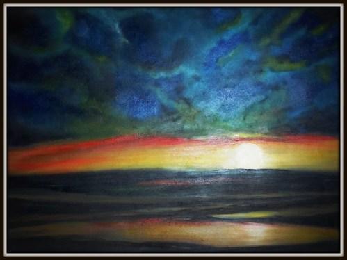 SunsetSkyInOils