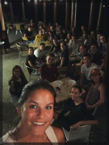 Our first dinner together European Summer School Prague