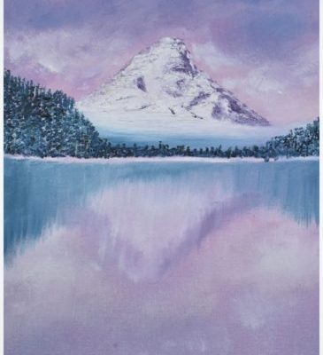 Mountain in Oils – Painting Tutorial for Beginners