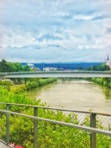 View of Drau in Villach