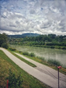 by the beautiful Drau River in Villach